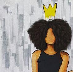 Black Love Art, Black Girl Art, My Black Is Beautiful, Art Girl, Black Art Painting, Black Artwork, Painting Of Girl, Cute Canvas Paintings, Small Canvas Art