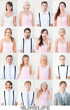 Limelife Photography knows how to make your wedding photography count. For inspiration on fun wedding poses, check out this California Backyard Wedding. #bradybunch #bridalparty #sillyphotography #bestfaces