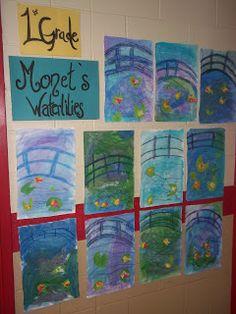 Happily Ever After...An Art Teacher's Fairy Teal: Monet Waterlilies