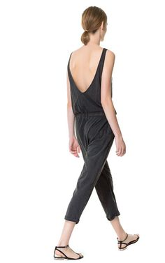 Image 1 of FADED EFFECT JUMPSUIT from Zara