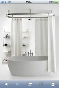 Shower over freestanding bath