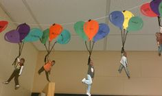 Two Tangled Teachers: Carried Away - I love this idea for beginning of the year goals. Students write their goals on their balloons!