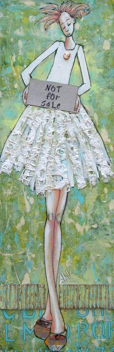 Artist April Harrison ~ Sensational Mixed Media Collages