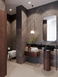 Amazing DIY Bathroom Ideas, Bathroom Decor, Bathroom Remodel and Bathroom Projects to help inspire your bathroom dreams and goals. Bad Inspiration, Bathroom Inspiration, Bathroom Design Luxury, Small Bathroom, Bathroom Ideas, Bathroom Designs, Bathroom Organization, Brick Bathroom, Minimal Bathroom
