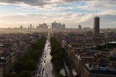 Paris, at sunset, after a rainstorm