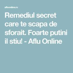 Remediul secret care te scapa de sforait. Foarte putini il stiu! - Aflu Online The Secret
