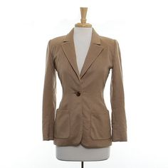 Valentino Long Medium Tan Blazer $50.00 stacksonracks.com