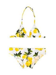 lemon print bikini