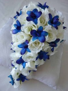 Rose and Blue Orchid Teardrop