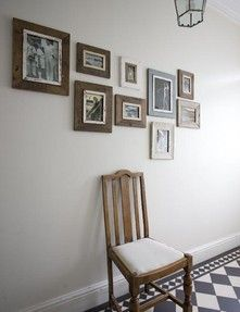 reclaimed wooden photo frames Rose & Grey