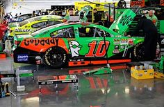 The GoDaddy Team #10 work on the GoDaddy Chevy during Practice 1.  Danica would finish P15 with a fast lap of 189.833 mph, 3/6/15