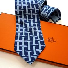 Authentic Vintage Hermes Silk Tie 470 HA Early Collection