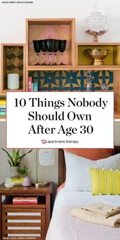 If you're just turning 30 or you're just ready for a little decluttering, here are 10 things you might not want to carry on through your adult life: Cheap Bedroom Decor, Home Decor Accessories, Cheap Home Decor, Home Organization, Bed Styling, Dorm Style, Home Decor, House Interior, Declutter