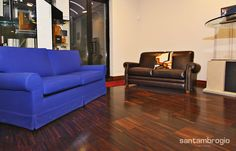 Divano letto Lissone in tessuto blu e divano in pelle Lissone color testa di moro, entrambi #MadeInItaly