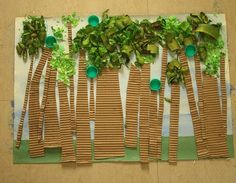 Preschool Crafts for Kids*: Earth Day Recycled Collage Forest Craft Preschool Jungle, Jungle Crafts, Preschool Crafts, Preschool Food, Rainforest Activities, Art Activities, Rainforest Theme, Rainforest Crafts, Rainforest Habitat