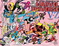 This is the cover to the Official Handbook of the Marvel Universe (OHOTMU) #12 which has Vision's original entry. The cover is by Ed Hannigan and Joseph Rubinstein!