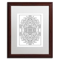 Trademark Art 'Beauty' by Kathy G. Ahrens Framed Graphic Art Size: