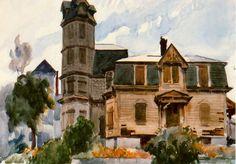 Edward Hopper (1882-1967)  ~ Victorian House