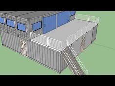 Shipping container cabin alaska - YouTube