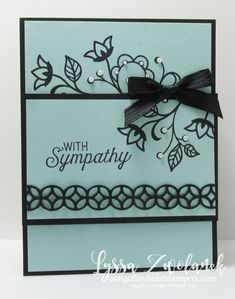 Sympathy card with new Stampin up flourishes