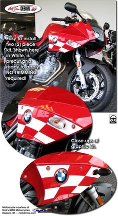 Bike specific graphic kits for BMW F 800 S from Auto Trim DESIGN dress up your bike and will set you apart from the pack.