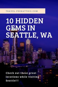When you think of Seattle, Pike Place Market and the Space Needle are top of mind. But are you aware of the Hidden Gems in Seattle? Seattle Underground, South Lake Union, Canada Destinations, Pike Place Market, Downtown Seattle, Worldwide Travel, Good Ole, United States Travel, Travel Usa
