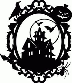 Silhouette Online Store - View Design #67110: halloween dracula castle ornate oval frame