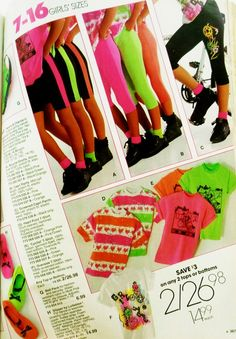 """I am mortified to admit I owned a pair of black and neon green biker shorts that matched a """"Don't worry be Happy"""" t-shirt!"""