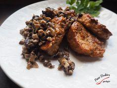 Polędwiczki i sos pieczarkowy