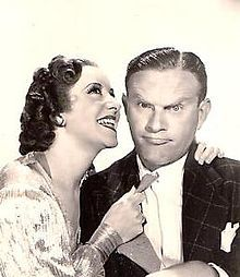 Burns and Allen, an American comedy duo consisting of George Burns and his wife, Gracie Allen, worked together as a comedy team in vaudeville, films, radio and television and achieved great success over four decades. I <3 Gracie.