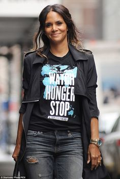 Charitable: The Extant star found a fashionable way to promote her charity Watch Hunger Stop with designer Michael Kors and the United Nations World Food Programme