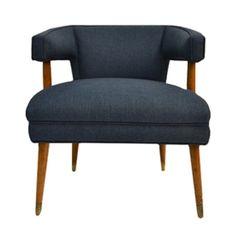 Vintage Bangor Teak Barrel Chair//