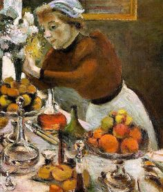 Henri Matisse (French, 1869-1954) > detail of The Dinner Table, 1897
