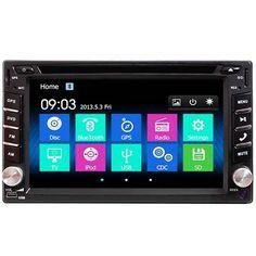 6.2 Inch Double 2DIN Car Stereo DVD Player Bluetooth GPS Navigation HD USB TV Camera Sale - Banggood.com