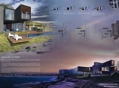 Architecture Board-Inhabit a tree Container Vacation House [AC-CA] Architectural Competition #architecture #competition #sidney #bondibeach #board