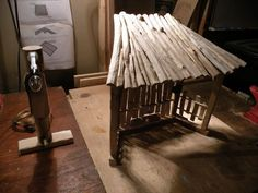 make a nativity stable photos | Tabletop Nativity Stable - by skone @ LumberJocks.com ~ woodworking ...