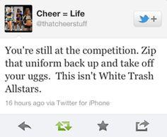 This is for my Extreme Allstar teams in Lufkin, Texas!  How many times have ya heard that this BETTER not happen!!  Love it!!