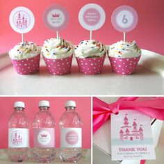 Princess Birthday  Princess Printable Party  Castle por EllisonReed, $51.00