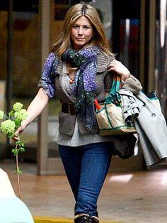 Jennifer Aniston. scarf