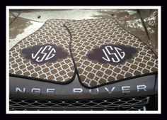 Monogrammed Gift Idea Personalized Car Mats by ClassicMonograms, $75.00