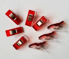 Wonderclips Stoffklammern 10 Stück transparent rot Stecknadel-Alternative