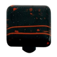 Hot Knobs, Glass Cabinet Knob, Red MG Black