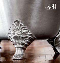 Carlton cast iron bathtub finishing silver leaf