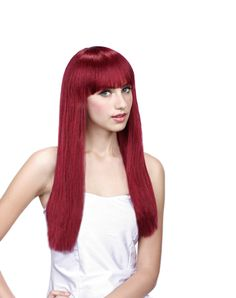 Burgundy Beauty Adult Wig with Bangs