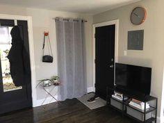 Post with 16762 views. My 350 Sq Ft Studio Small Studio Apartment Design, White Armchair, Studio Living, Entryway, Furniture, Studios, Garage, Home Decor, Entrance