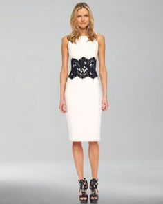 Black lace waist-belt