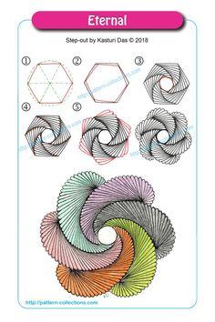 Eternal by kasturi das zen doodle, tangle doodle, tangle art, doodle art, Doodles Zentangles, Tangle Doodle, Tangle Art, Zentangle Drawings, Doodle Drawings, Easy Drawings, Doodle Art, Mandala Art, Drawing Heart