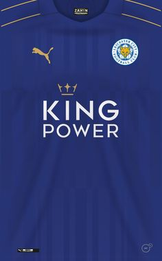 Leicester City 16-17 kit home