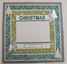 Stampin' Up! - Scrapbook Page - All Is Calm with Festival Of Trees  Teri Pocock - http://teriscraftspot.blogspot.co.uk/2014/11/scrapbook-page-all-is-calm-with.html