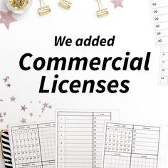 Everything you need to know about Commercial Licenses! Planner Layout, Need To Know, Everything, Journals, Finance, Commercial, Ads, Learning, Studying